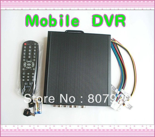 4CH H.264 compression Mobile DVR UP to D1,AV input/output,Support 3G GPS/WIFI/SD storage/Hard disk