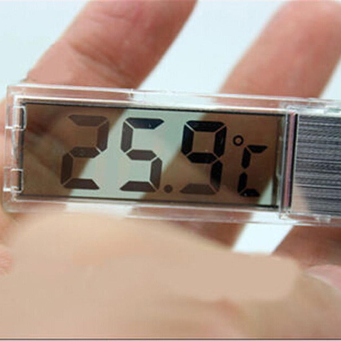 Multi-Function Lcd 3D Crystal Digital Electronic Temperature Measurement Fish Tank Aquarium Thermometer Random Color
