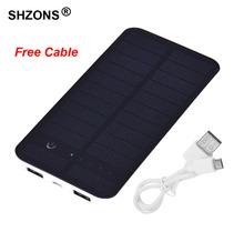 10000 мАч Waterproof Solar Power Bank Внешнее Зарядное Устройство Powerbank для iPhone 5s 6 6 s 7 plus для Samsung S6 S7 для Всех Мобильных телефон(China (Mainland))