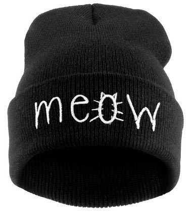 Beanies Factory 2015 New MEOW DIAMOND BAD HAIR DAY Cotton Knitted Hats Beanies Sport Hip-hop Skullies Caps Touca Gorro For Women(China (Mainland))