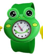 10pcs Cartoon frog slap kids children boy wrist watch silicone jelly sports watch Y10489