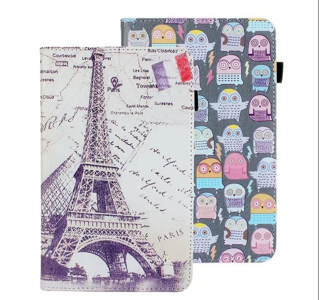 fashion printed flower leather case cover lenovo A3000 7 3g tablet pc stand case+1 stylus pen +1 screen flim - BH Accessories Technology Co.,Ltd store