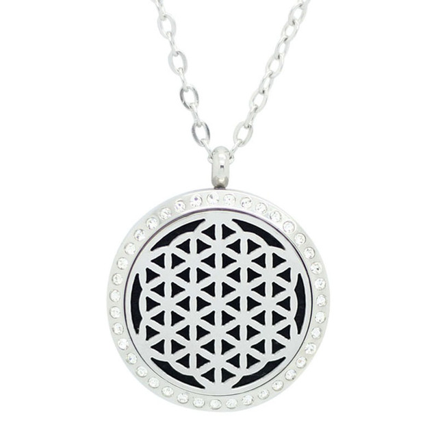 Chain as gift! 316L stainless steel magnetic silver/gold/rose gold aromatherapy necklace essential oil diffuser locket necklace
