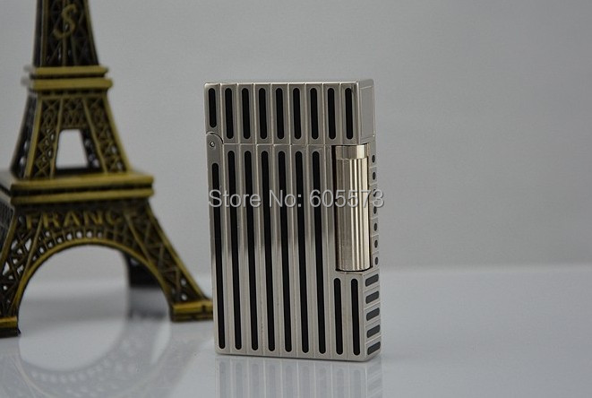 S.T Memorial Dupont lighter Bright Sound! New Box +Gas converter Silver Serial number C117 - Honest Lin's store