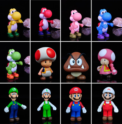 Hot new Super Mario Bros 5 INCH Figure Toys CHOOSE ONE FROM 12pcs free shipping(China (Mainland))