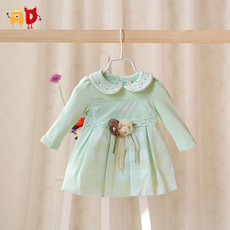 AD Flowers Mesh Baby Girls Dress Spring Toddler 95% Cotton Soft Quality Clothing Clothes vestido infantil - Angel vs Devil store
