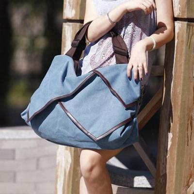 Vintage Women Bag 2015 New Plain Canvas Tote Bag Splice Grafting Vintage Shoulder Handbag Large Travel Tote Bag Bolsa De Ombro(China (Mainland))