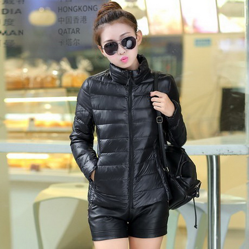 New Retail Fashion Candy color Stand Collar thin Lady down jackets,10 Colors short Down Jackets coats women's clothing WT007(China (Mainland))