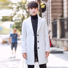 2017 New Long Woolen Trench Coat Men Windbreak Winter Fashion Mens Overcoat Quality Warm Trench Coat Male Jackets size M-5XL(China)