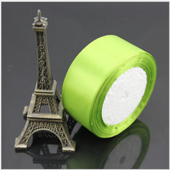 1-1/2 inch (40mm) single face Satin Ribbon 25yds Green webbing Wedding decoration Z002 - Fang Decorative Accessories Stores store