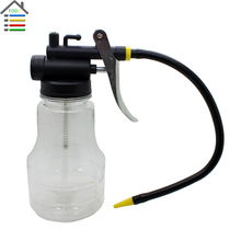 New Transparent High Pressure Pump Oiler 250ml Lubrication Oil Can Plastic Machine Oiler Grease 245mm Length flex Gun(China (Mainland))