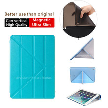 Nice hard & tpu silicone flexible soft back slim magnetic smart cover for apple ipad air 2 case (iPad 6) thin like 360 rotate(China (Mainland))