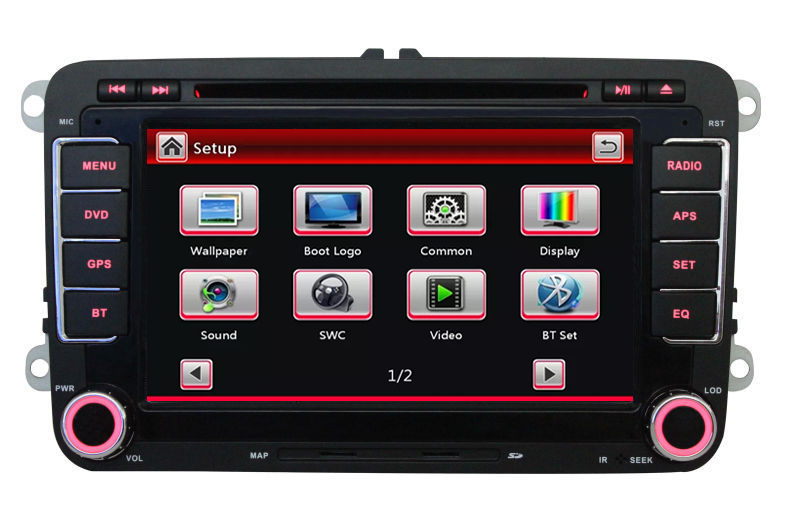 "7"" Capacitive Screen Car DVD GPS built-in Can Bus support Original VW UI for VW Volkswagen POLO PASSAT B6 Golf 5 6 Skoda Octavia(China (Mainland))"
