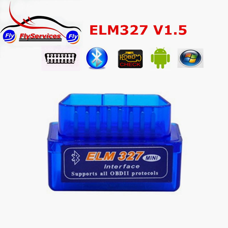 2016 High Quality Firmware V1.5 MINI Bluetooth ELM327 V1.5 OBD2 ELM327 Bluetooth With PIC18F25K80 Chip Support Android Torque(China (Mainland))