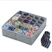 30 Cell Bamboo Ties Box Closet Divider Drawer Wardrobe Closet Organizer Storage Storage box