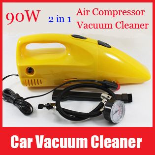 High Power Portable 2 in 1 Inflator Air Compressor Portable Handheld Mini Car Vacuum Cleaner Home Dust Collector Free Shipping