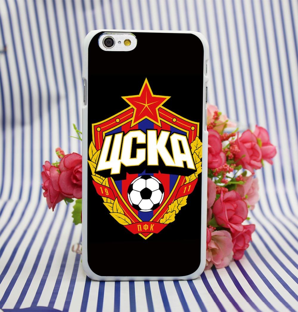 Гаджет  Futbol CSKA Moscu White Hard Case Cover for iPhone 4 4s 5 5s 5c 6 6s plus None Телефоны и Телекоммуникации