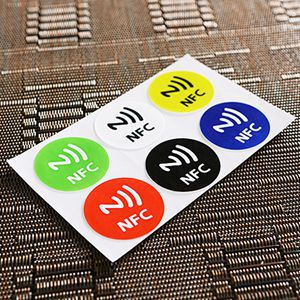 New Arrival Universal 6PCS Waterproof NFC Tag Stickers RFID Adhesive Label for Samsung iPhone 6 plus With Low Price(China (Mainland))