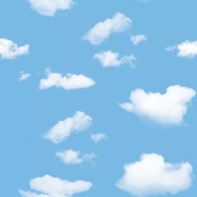Decke Tapete Sternenhimmel : White Clouds Blue Sky Ceiling