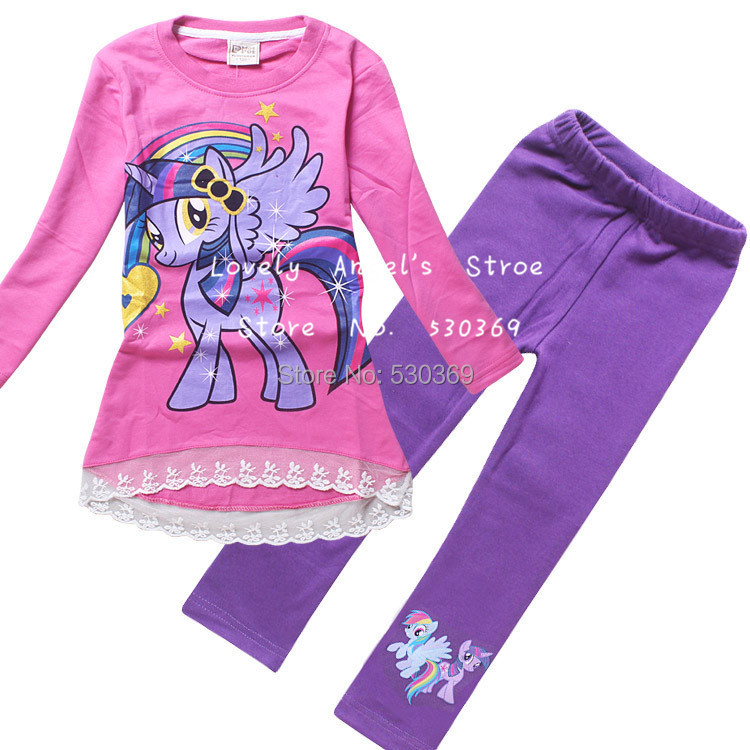 free shipping 1set autumn casual my pony clothes