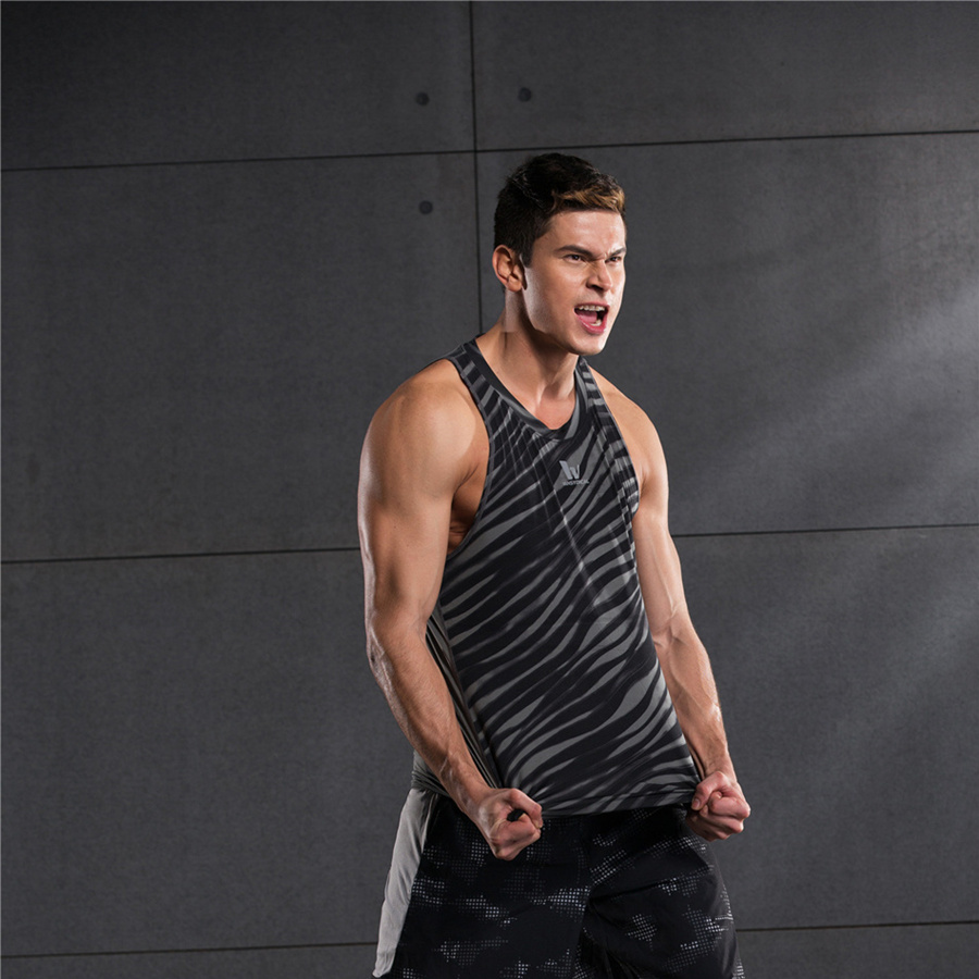 Vayrich 16 men Flexible Streak Tight Running Vests Breathable compression Sports Traning Vests Quick Dry Fitness Exercise Vests(China (Mainland))