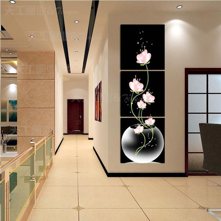 Free Shipping Hot Sell Beautiful Pink Flower Modern Wall Painting