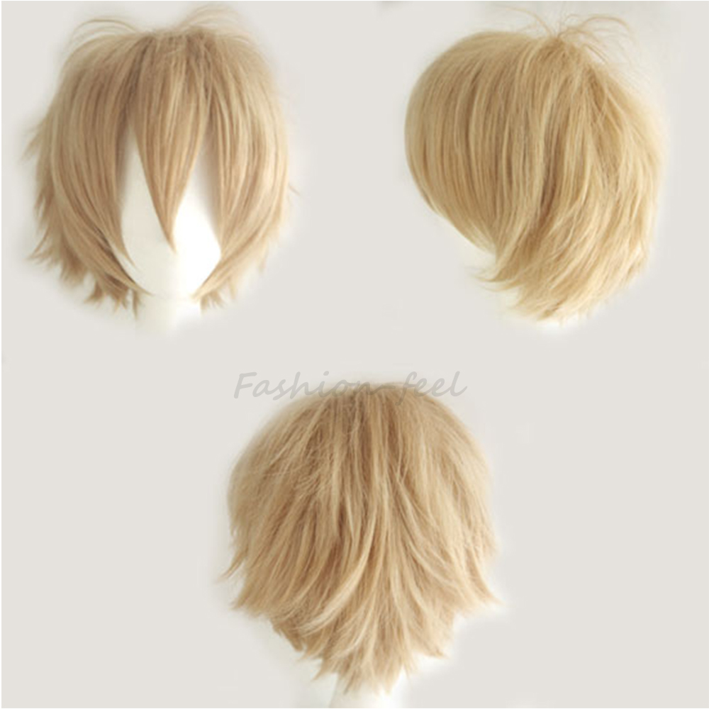 White Anime Boy Wig 79