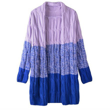 Women Oversized Sweater Knitted Cardigan Long Sleeve Patchwork Casual Long Cardigans Sueter Autumn Winter Warm Outwear Kardigan(China (Mainland))