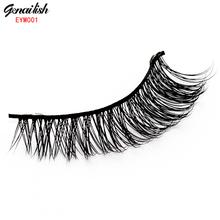EYM001-1 Pairs Natural Thick Mink False Eyelashes for Beauty Makeup Natural Extension Eyelashes for Maquiagem(China (Mainland))
