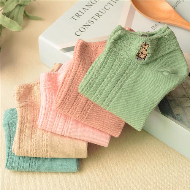 5 Пар/уп. Женский Супер Милые Вещи Кролик Каваи Носки Женщины Прохладный Носки Невидимые Короткие Носки Chausette Femme Socken