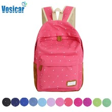 Vosicar Girls Double-Shoulder Fashion Design Dots Print Bulk Bags School Book bags Students Backpack Freeshipping & Wholesale(China (Mainland))