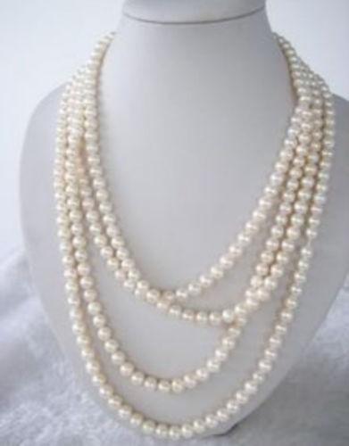 Fr645 U7 бесплатная доставка > >>>> потрясающие 7 - 8 мм белый FW жемчуг ожерелье 65  литой диск replica fr lx 98 8 5x20 5x150 d110 2 et54 gmf