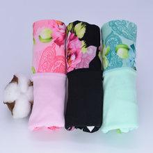 3 sztuk/partia kobiety bielizna bawełna klasyczny kwiatowy druku majtki seksowna bielizna nowa majtki damskie majtki damskie bielizna damska(China)