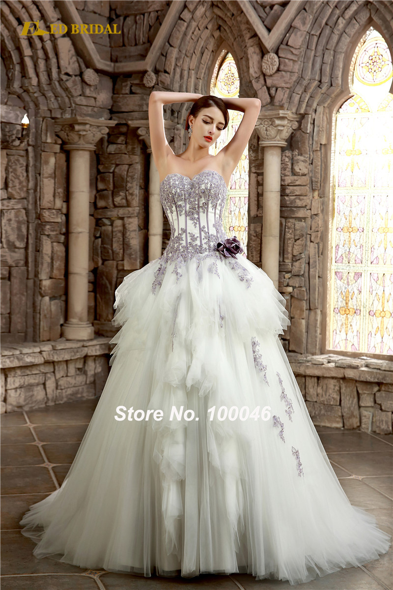 Compare Prices on Purple Corset Wedding Dresses- Online Shopping ...