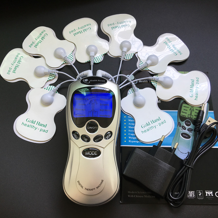 New whole English Key Body Healthy Care Digital Meridian Tens Therapy Massager Relax Muscle Pain Relief Acupuncture Therapy