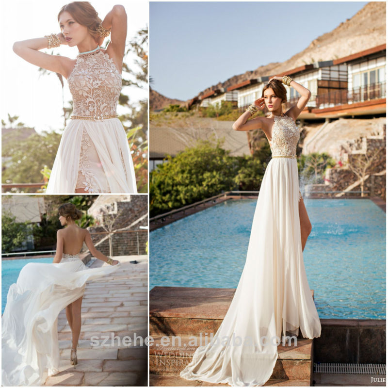New arrival cw2224 fashionable 2014 summer casual backless for Summer dresses for weddings on beach