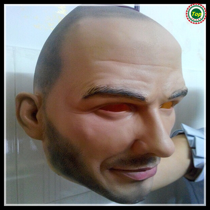 Halloween Party Cosplay David Beckham Mask Famous Latex Celebrity Mask Fancy Party Actor Football Player Adults Size In stock
