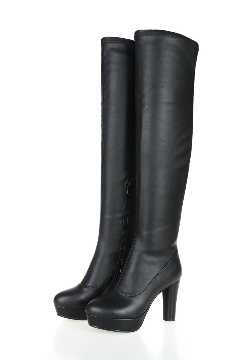 2015 new custom made s knee high boots leather