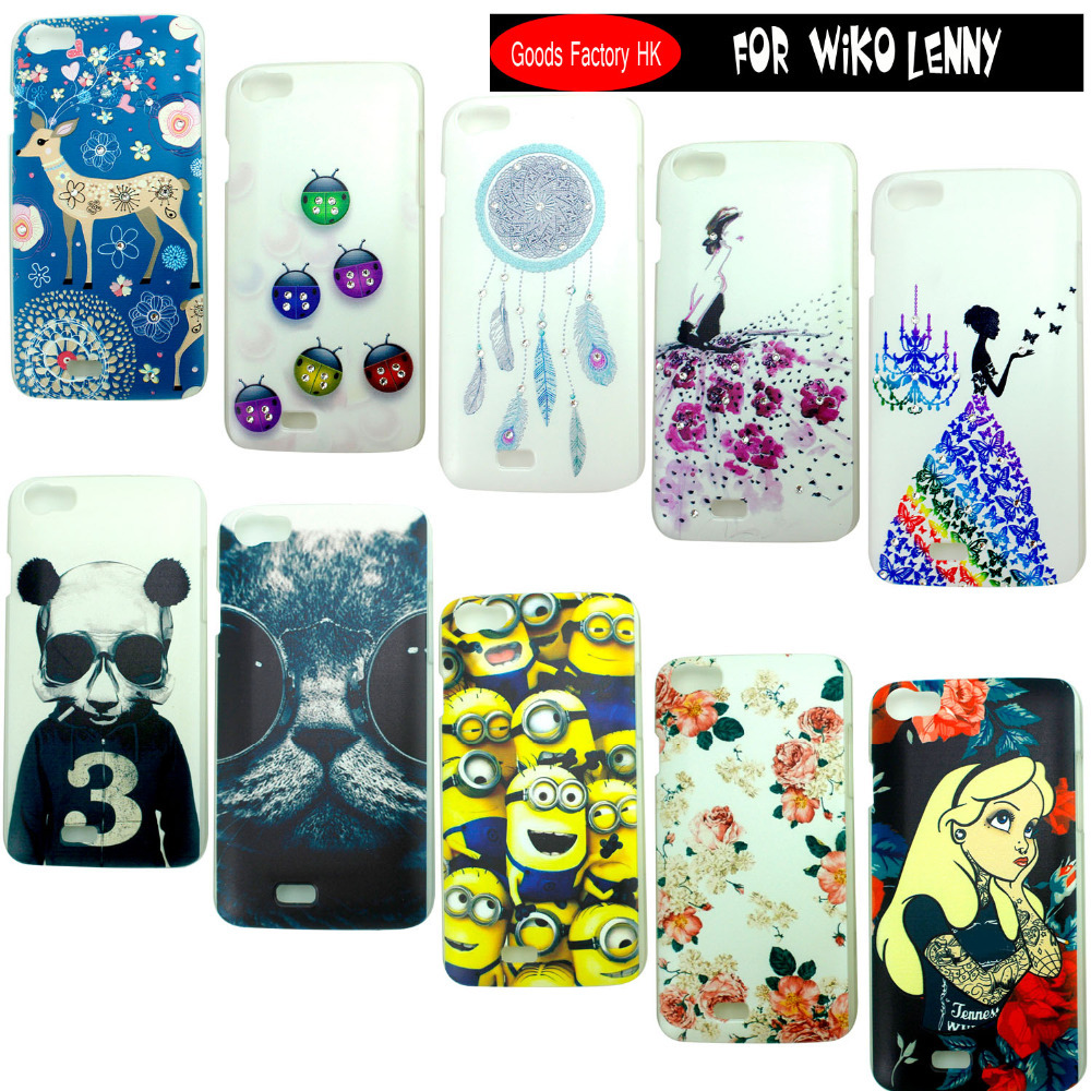 10 pattern Crystal Rhinestone Bling 3D painting Plastic Hard Case Cover Wiko Lenny case cover Diamond Phone  -  Shenzhen BaihuichuangtongTechnology Co.,LTD Store store