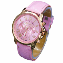 NEW Geneva Watch women Fashion Quartz Watches Leather Young Sports Women gold watch Casual Dress Wristwatches