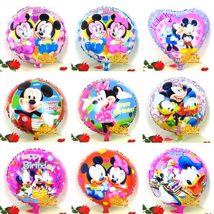 The new 18-inch round aluminum balloons Mickey Minnie cartoon birthday balloon wedding decoration 1 / per pack(China (Mainland))