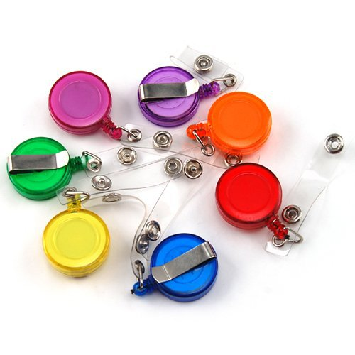 vG-YOYO401 Recoil Key Ring Retractable Pull Chain with Belt Clip Ski Pass ID Holder (10)