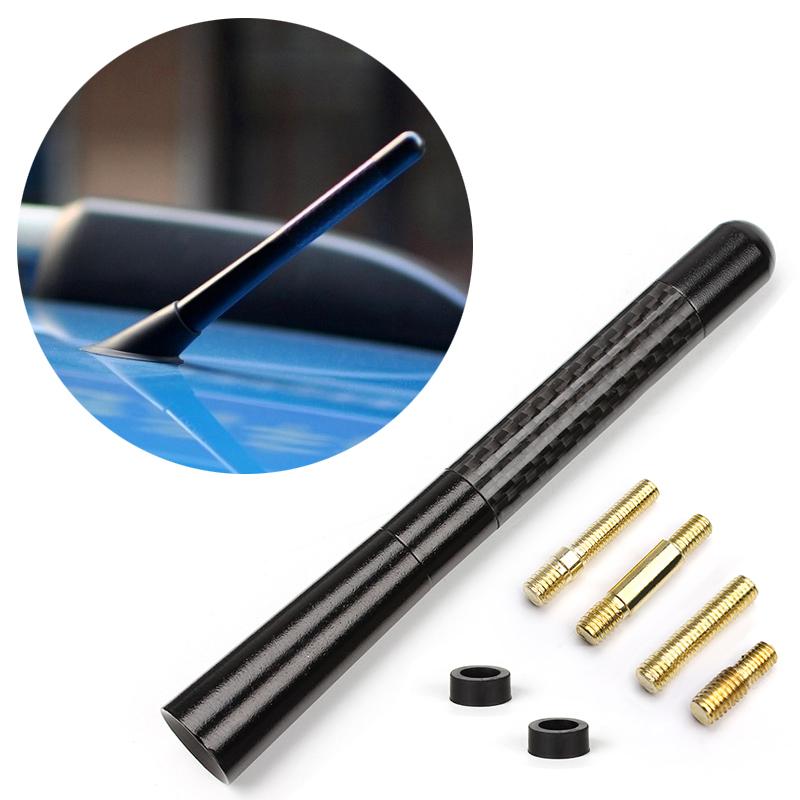 Delicate Black Fiber Carbon Short Antenna Radio Car Aerial Antenna For Cars Hot Selling EA10668(China (Mainland))