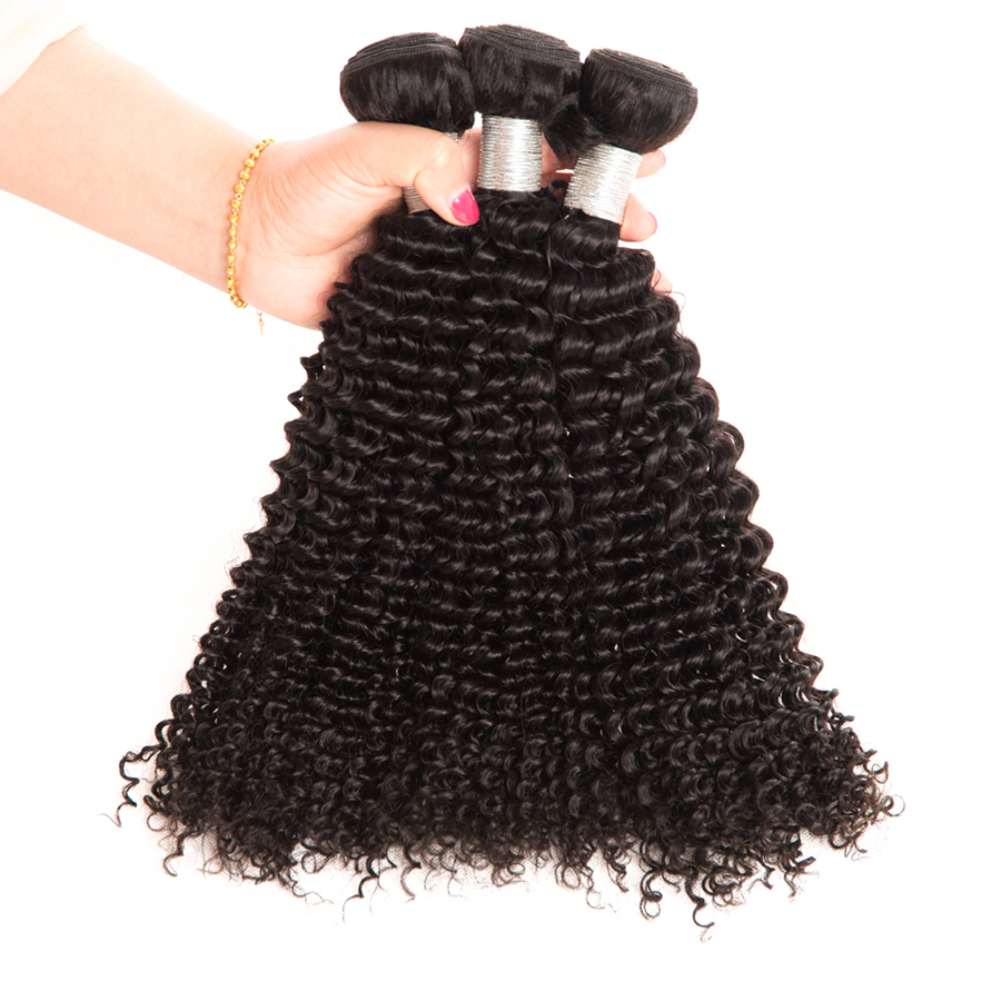 Wonder girl Malaysian Kinky Curly Hair Remy Hair Weaving Natural Color 1PC 100% Human Hair Bundles