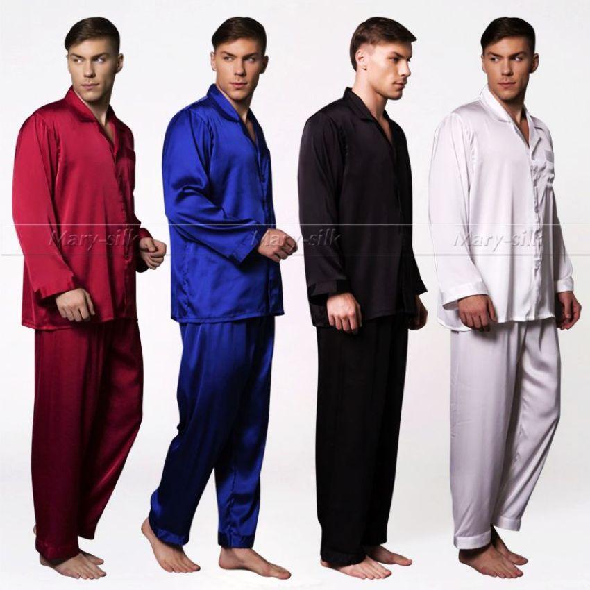 cadeaux mens satin de soie pyjamas set pyjama pyjamas. Black Bedroom Furniture Sets. Home Design Ideas