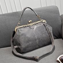 2016 new fashion women realer brand vintage bags retro PU leather tote bag messenger bags small clutch shoulder handbags BG29
