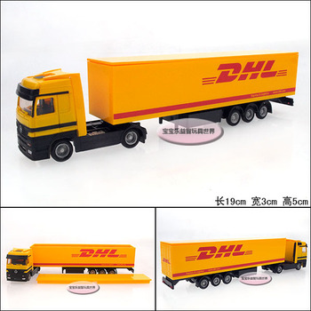 Dhl stacking container transport vehicle alloy car model free air mail