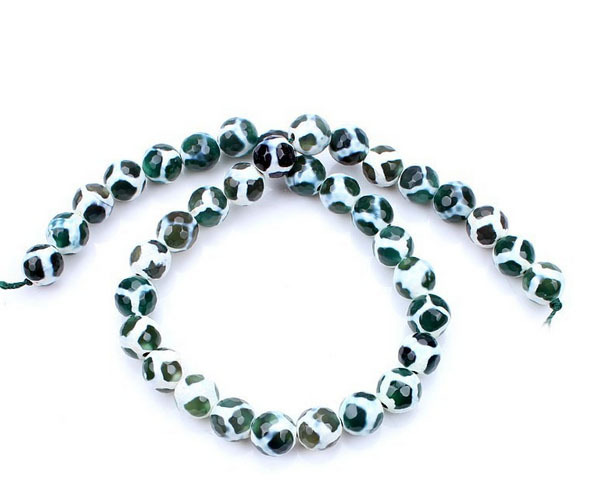 Buy agate beads 10mm round football for Jewelry making supply store