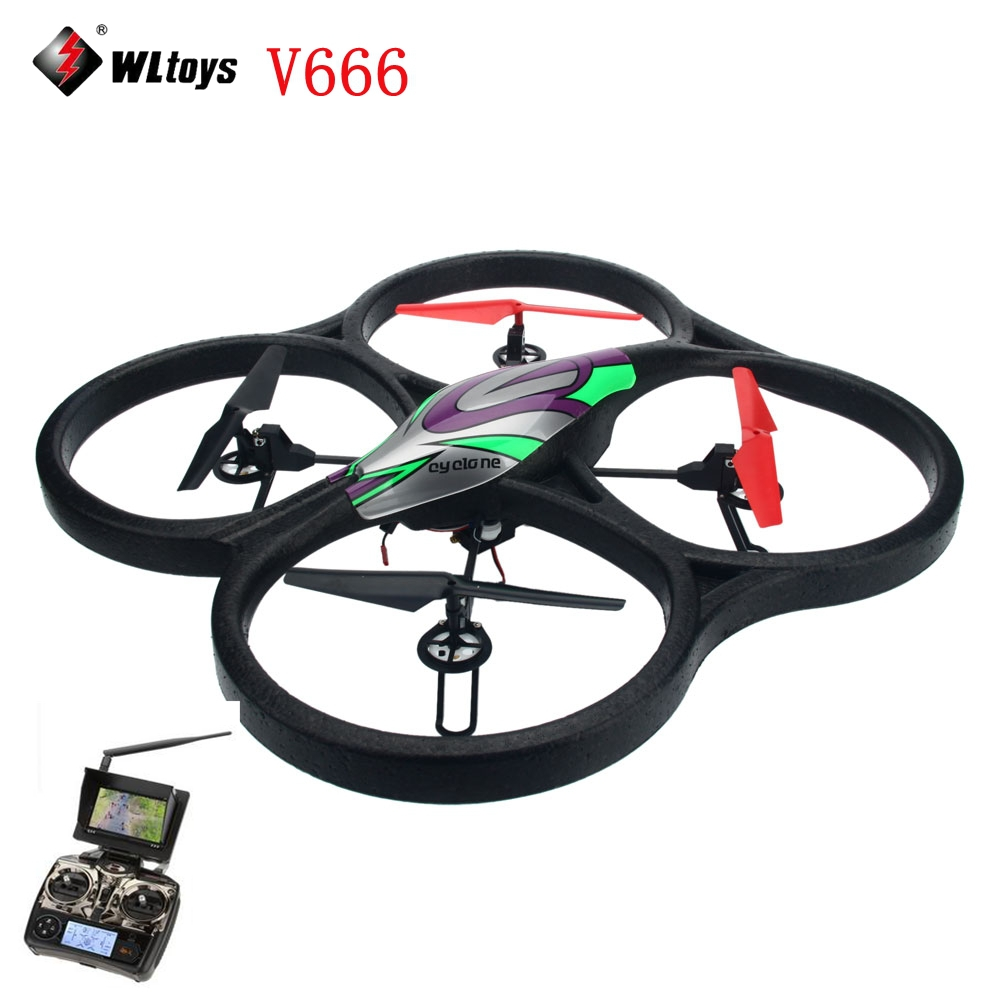WLtoys V666 FPV 5.8G FPV 6 Axis 4CH RC Big Quadcopter drone with 2MP camera FPV helicopter with professional drones 14008654(China (Mainland))