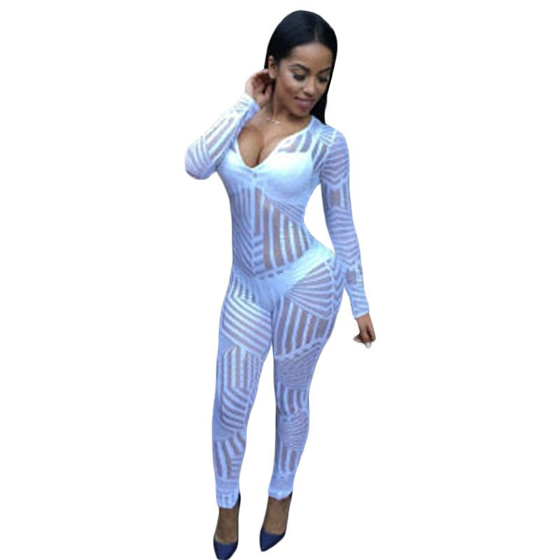Simple Women Cosplay Jumpsuits And Rompers Ladies Adult Open Face Full Body